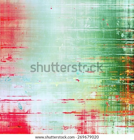Old abstract grunge background for creative designed textures. With different color patterns: cyan; gray; green; pink - stock photo