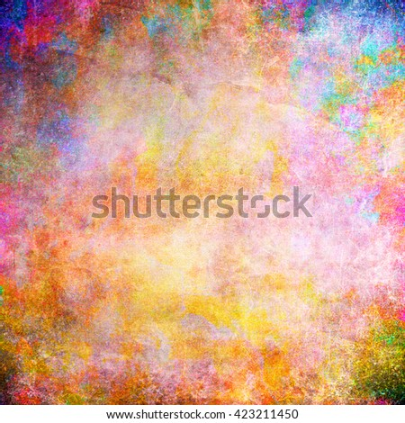 Old abstract texture with grunge stains. With different color patterns: pink; purple - stock photo