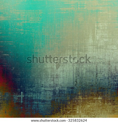 Old abstract texture with grunge stains. With different color patterns: yellow (beige); blue; green; gray - stock photo