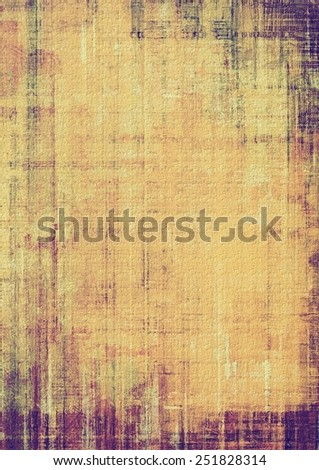Old abstract texture with grunge stains. With different color patterns: yellow (beige); brown; purple (violet) - stock photo