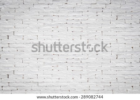 Old aged rough brick wall texture background painted in white color tone in grunge style : Blank masonry wall textured backdrop in white colour   - stock photo