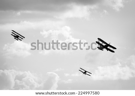 Old airplanes - stock photo