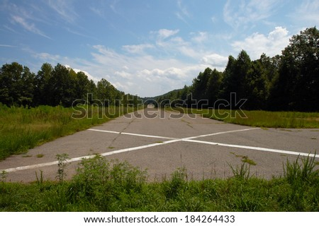 Old Airstrip at DuPont State Forest, North Carolina