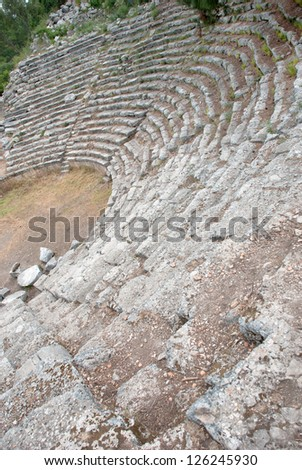 Old amphitheater Phaselis in Antalya, Turkey - archaeology