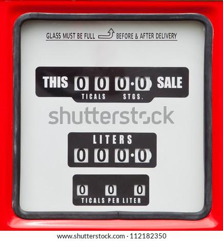 old analog gas pump meter - stock photo