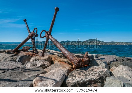 old anchor  - stock photo