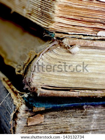 Old ancient books - stock photo