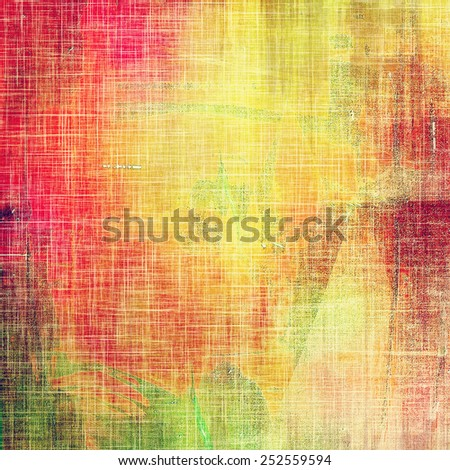 Old ancient texture, may be used as abstract grunge background. With different color patterns: yellow (beige); green; red (orange); pink - stock photo