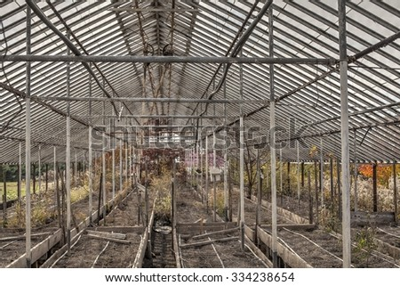 Old and abandoned greenhouse