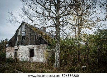 Old and abandoned rural house near Užava, Latvia