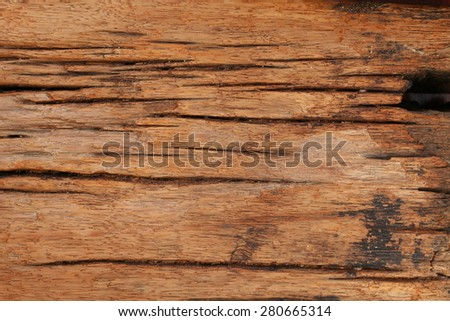Old and classic style of wood roadbed represent the railway track support concept related idea.