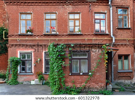 Creeper Growing On Red Brick House Stock Images Royalty