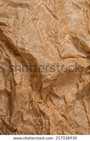 Old and crumpled sheet of paper