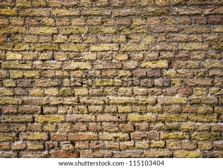 Old and dirty brick wall - stock photo