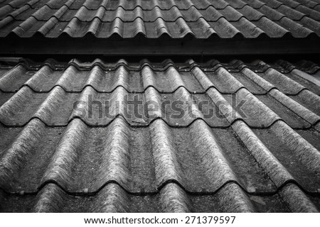 Old and dirty grey roof