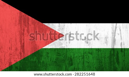 Old and dirty textured Palestine flag
