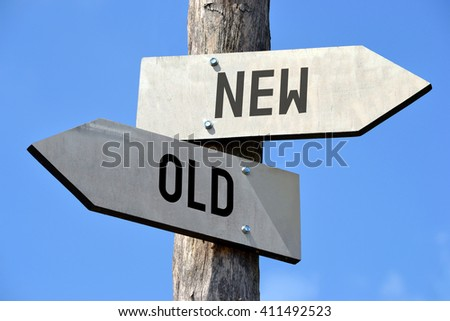 Old and new signpost