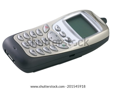 old and outdated mobile phone - stock photo