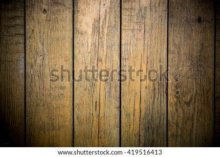 Old  and shabby wooden texture panel. Vintage background from a wooden plank Vintage natural yellow color  wooden background with cracks. perfect grunge wall and floor. ideal for menu