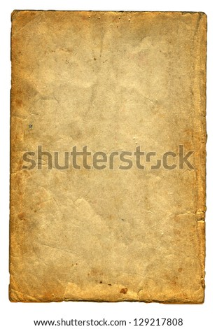 Old and Vintage Paper Isolated On The White Background - stock photo