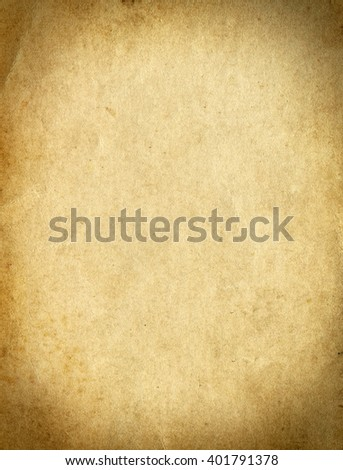 Old and Vintage Paper Page Texture - stock photo