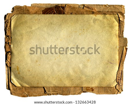 Old and Vintage Papers. Isolated On The White Background - stock photo