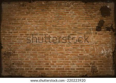 old and vintage red brick wall texture background