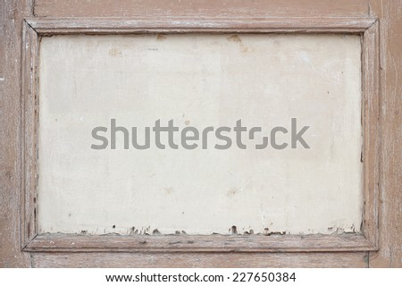 Old and weathered brown wooden frame background - stock photo