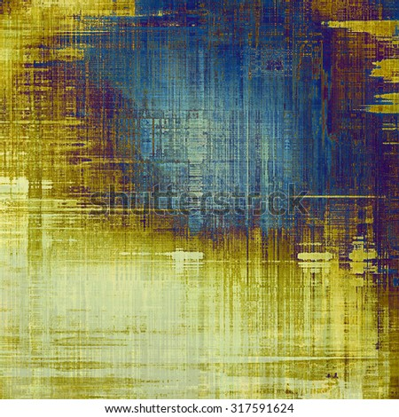 Old and weathered grunge texture. With different color patterns: yellow (beige); brown; blue; purple (violet) - stock photo
