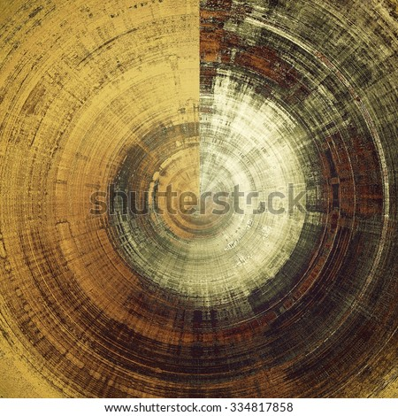 Old and weathered grunge texture. With different color patterns: yellow (beige); brown; gray; black - stock photo