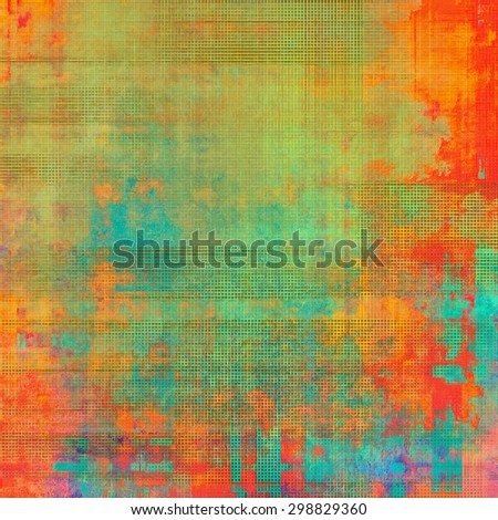 Old and weathered grunge texture. With different color patterns: yellow (beige); green; blue; red (orange) - stock photo