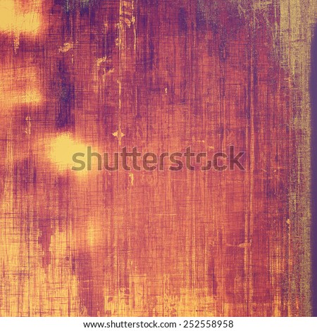 Old and weathered grunge texture. With different color patterns: yellow (beige); red (orange); purple (violet); pink - stock photo