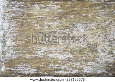 Old and weathered paint peeled wooden background - stock photo