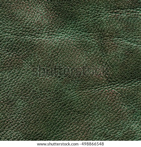 old and worn green leather texture for background
