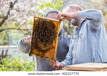 Old and young beekeeper