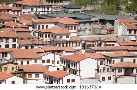 old Ankara houses - stock photo