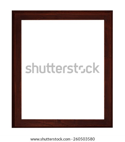 Old Antique Black frame Isolated Decorative Carved Wood Stand Antique Black Frame Isolated On White Background