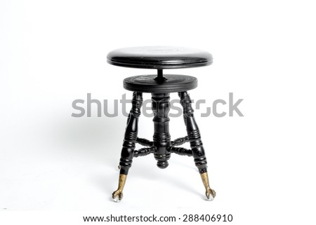Old antique black stool with a round seat from a piano  sc 1 st  Shutterstock & Piano Stool Stock Images Royalty-Free Images u0026 Vectors | Shutterstock islam-shia.org