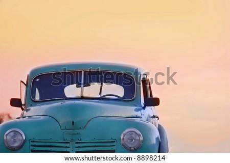 Old antique cars Cuba - stock photo