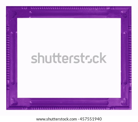 Old Antique frame Isolated Decorative Carved Wood Stand Antique Black Frame Isolated On White Background - stock photo