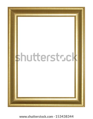 Old Antique Gold  frame Isolated Decorative Carved Wood Stand Antique  Frame Isolated On White Background - stock photo