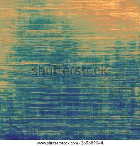 Old antique texture (for background). With different color patterns: yellow (beige); brown; blue; green - stock photo