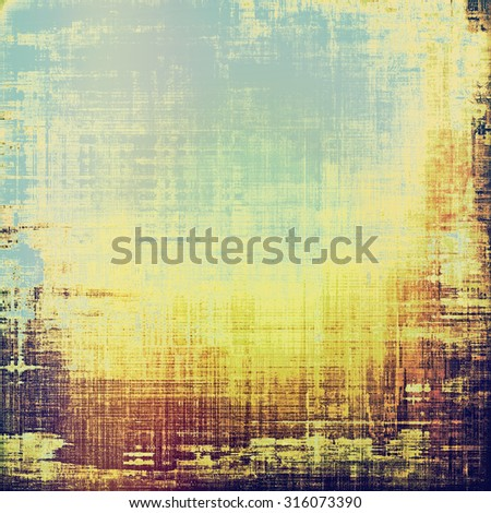 Old antique texture (for background). With different color patterns: yellow (beige); brown; blue; purple (violet) - stock photo