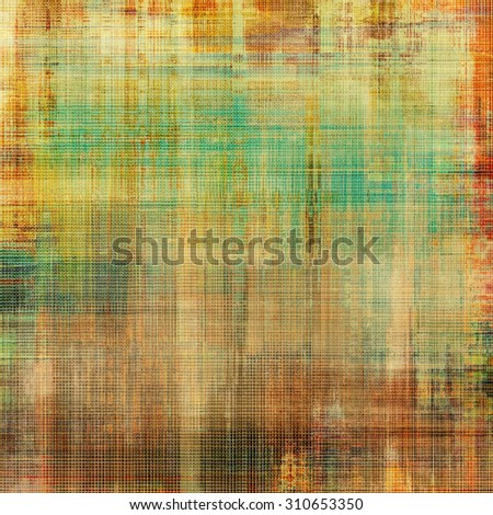 Old antique texture (for background). With different color patterns: yellow (beige); brown; green; red (orange) - stock photo
