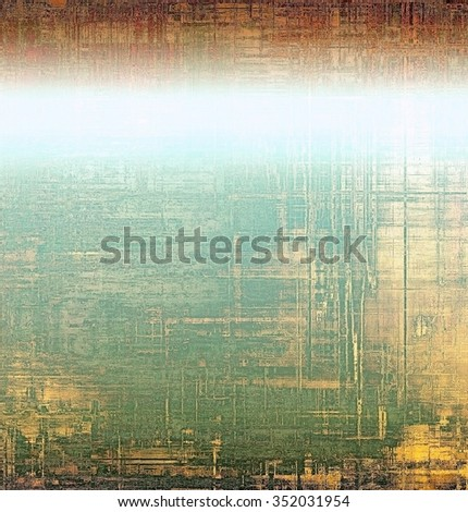 Old antique texture (for background). With different color patterns: yellow (beige); brown; green; white; cyan - stock photo