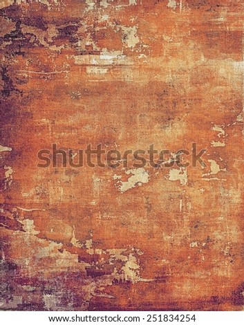 Old antique texture (for background). With different color patterns: yellow (beige); brown; red (orange); purple (violet) - stock photo