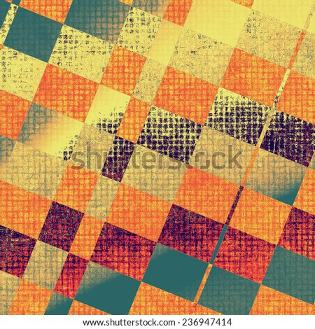 Old antique texture or background. With different color patterns: green; purple (violet); orange; yellow - stock photo