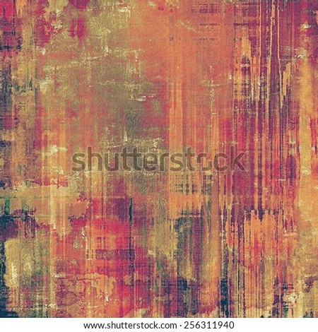 Old antique texture or background. With different color patterns: yellow (beige); brown; purple (violet); red (orange) - stock photo