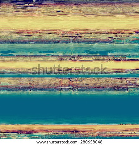 Old antique texture - perfect background with space for your text or image. With different color patterns: yellow (beige); brown; blue; cyan - stock photo