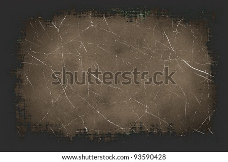 Old antique texture with grunge frame and space for text or image - stock photo